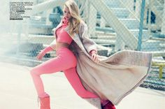 Candy Color: Elsa Hosk By David Bellemere For Marie Claire Italia September 2014