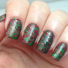 christmas by idreamoflacquer #nail #nails #nailart