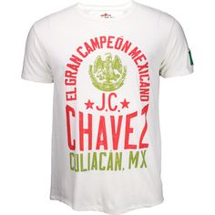 Roots of Fight Julio Cesar Chavez Campeon Mexicano Shirt - White - Medium Roots Of Fight, Cesar Chavez, Boxing T Shirts, Boxing Gloves, Branded T Shirts, Fashion Brands, Personal Style, Mens Tops, Stuff To Buy