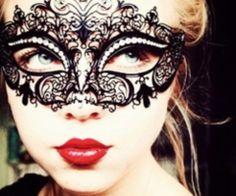 masqurade lace mask black