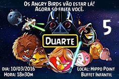 Convite digital personalizado Angry Birds 001