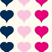 Love Struck - Pink & Navy fabric by heatherdutton for sale on Spoonflower - custom fabric, wallpaper and wall decals