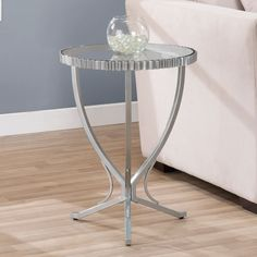 Scalloped Metal End Table | Overstock.com Shopping - The Best Deals on Coffee, Sofa & End Tables