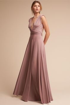 BHLDN Heather Ginger Convertible Maxi Dress in Bridal Party | BHLDN