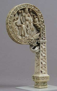 Ivory Crozier Head with Christ in Majesty and Throne of Wisdom | Italian or German | The Met