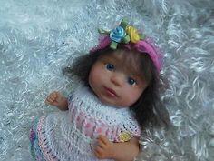 Original art doll OOAK, polymer clay toddler girl ,8 inches, by Bettymoni
