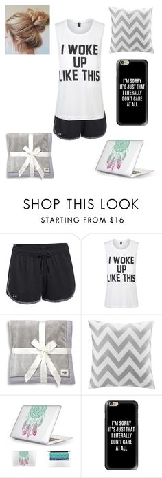 """""""lazy day"""" by a-hidden-secret ❤ liked on Polyvore featuring Under Armour, Private Party, UGG, Intelligent Design and Casetify"""