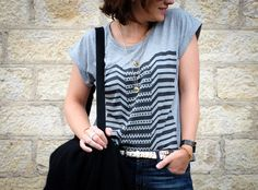 The Beauty and the Geek / YunDoo / modèle Distortion / Streetstyle / Graphic tshirt