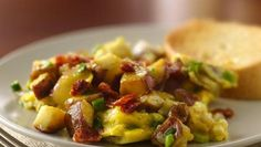 Potato, Bacon & Egg Scramble