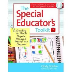 Cindy Golden The special educator's toolkit : everything you need to organize, manage, & monitor your classroom (Baltimore: Paul H. Teaching Special Education, Elementary Education, 6th Grade Special Education, Upper Elementary, Music Education, Teacher Blogs, Teacher Resources, Teacher Stuff, Teacher Toolkit