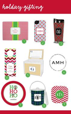Live Your Style by Boatman Geller: Holiday Gifting! #holiday #gifts #monograms