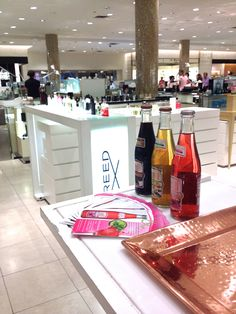 Onli at Sacks Fifth Avenue Key to the Cure Kick Off bottles shopping beverage drink all natural ingredients flavors