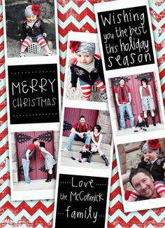 Christmas Card Fun Chevron Film Strip Holiday Card door deanworks