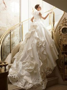 Wow! That is the most Beautiful wedding dress yet!
