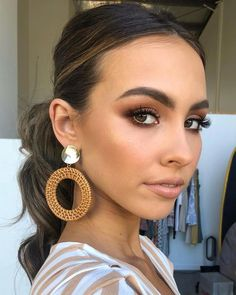42 great make-up ideas for beginners . - Summer Make-Up Formal Makeup, Prom Makeup, Cute Makeup, Hair Makeup, Casual Makeup, Mac Bridal Makeup, Tan Skin Makeup, Bridal Smokey Eye Makeup, Beauty Makeup