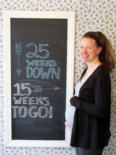 Loughs in Love: 25 Week Chalkboard, Pregnancy Tracker