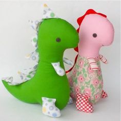 Download Tommy T-Rex Doll - 12 inch Sewing Pattern | Dolls & Clothing Sewing Patterns for Download | YouCanMakeThis.com