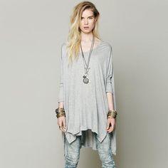 casual-women-t-shirt-street-style-loose-long.jpg (800×800)