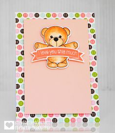 Clearance Sale: was now Mini clear stamp set comprising 9 separate stamps. Love You So Much, Baby Cards, Clear Stamps, My Children, Teaser, Bear Hugs, Card Making, Crafty, Frame