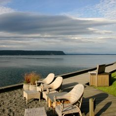 On the Waterfront: Whidbey Island, Washington Though it's only a 20-minute ferry ride from Seattle suburb Mukilteo, this island oasis feels like the Pacific Northwest's last frontier—a lost-in-time place of towering redwoods and sparkling coves overlooking Puget Sound. Take refuge at the 28-room Inn at Langley, in Langley, a pint-size town on the island. Each suite has a Jacuzzi with views of the evergreen-lined Saratoga Passage waterway. In the historic center, the Clyde Theatre, a 1937…