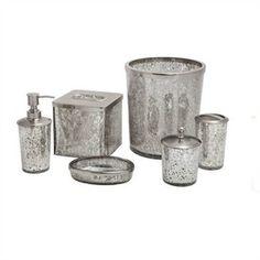 mercury glass bathroom accessories. Clean Place To Organized Cotton Balls Q Tips Etc Rustic Urban. Paradigm Bath Accessories Crackle Glass Mercury Bathroom