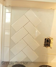 Subway Tile Back Splash in a Herringbone Pattern | Simply Swider