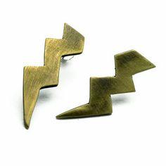 Asymmetric Short Studs Brass