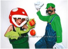 Halloween 2014 costume mario bros. Piranha plant