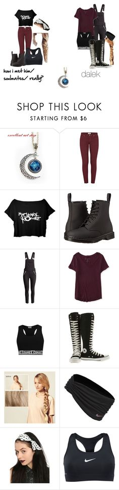 """""""fanfic: The doctors love first 5 chapters"""" by zoeyfrederick on Polyvore featuring Paige Denim, Dr. Martens, Aéropostale, Converse, Hershesons and NIKE"""