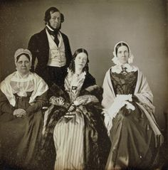 Daguerreotype portrait of the Cresson family, March 1844.