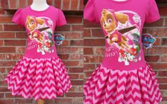 Girls Paw Patrol Dress Paw Patrol Dress Skye by GerlieCreations Girl Paw Patrol Party, Paw Patrol Dress, Paw Patrol Birthday, 6th Birthday Parties, Third Birthday, Birthday Ideas, Kids Outfits, Cool Outfits, Sewing Patterns Girls