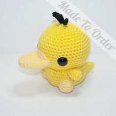 Made To Order Psyduck by HeartstringCrochet on Etsy, $32.00