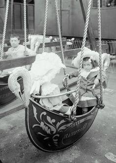 Regular swing just not good enough for you, huh ?...   Luna Park, Russian Swan Boats, Paris,  1910