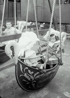 Regular swing just not good enough for you, huh ?...   Luna Park, Russian Swan Boats, Paris,  1910