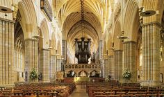 The stunning nave of Exeter Cathedral