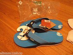 Men's Ocean Minded flip flops thongs sandals crocs seaweed OM150 turquoise 10