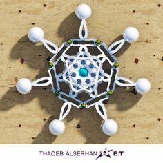 Thaqeb Alserhan E:T Architectural floral wall sculpture Design, lifestyle