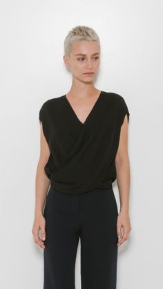 T Lee Cross Front Blouse by L'Agence