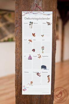 Geburtstagskalender / tinytinadesigns