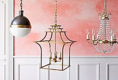 Katie Leede brings luxe, livable style to her family's SoHo pad  circa Lighting Pagoda lantern