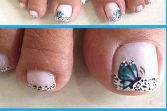 Ss Butterfly Nail, Toe Nail Designs, Mani Pedi, Toe Nails, Pretty Nails, Fingers, Nailart, Ss, Life