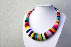 Collar colorido hecho en crochet collar colorido por estudioshop
