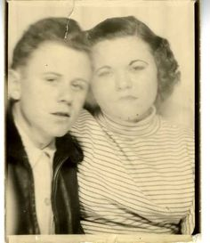 Smoking in the Photobooth, Vintage Photobooth Picture, c.1950 Barbara Levine & project b