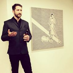 Blurry speech at the #Saatchi #papercuts private view. #joewebb #art #collage #london