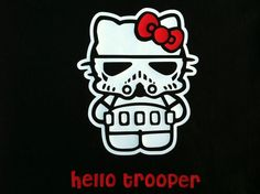 Hello Kitty Storm Trooper Star Wars Funny Comic Ladies Kid's