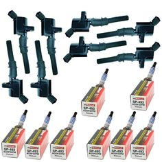 fd503 Ignition coil dg508 HEAVY DUTY and sp493 spark plug Motorcraft 16pc kit #SHIPSTOYOUIN1BUSINESSDAY