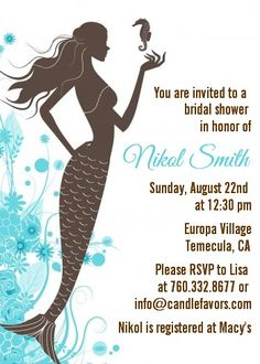 Mermaid - Bridal and Wedding Invitations