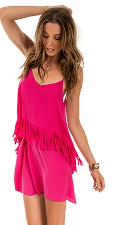 L Space 2014 Threads Wilde Fringe Hot Pink Dress  #LSpace #2014 #Wilde #Fringe #Hot #Pink #CoverUp #Stylish #Beachwear #Fashion #Fashionable #NewArrival #Southbeachswimsuits
