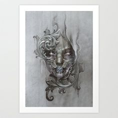 These pieces by Chasen9ne on Society 6 are just amazing.    Burial Art Print by chasen9ne - $18.00