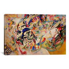 """""""Composition VII"""" by Wassily Kandinsky Painting Print on Canvas"""
